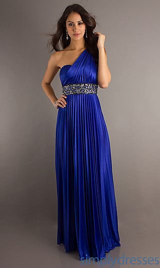 Long Blue Prom Dress by XOXO at SimplyDresses.