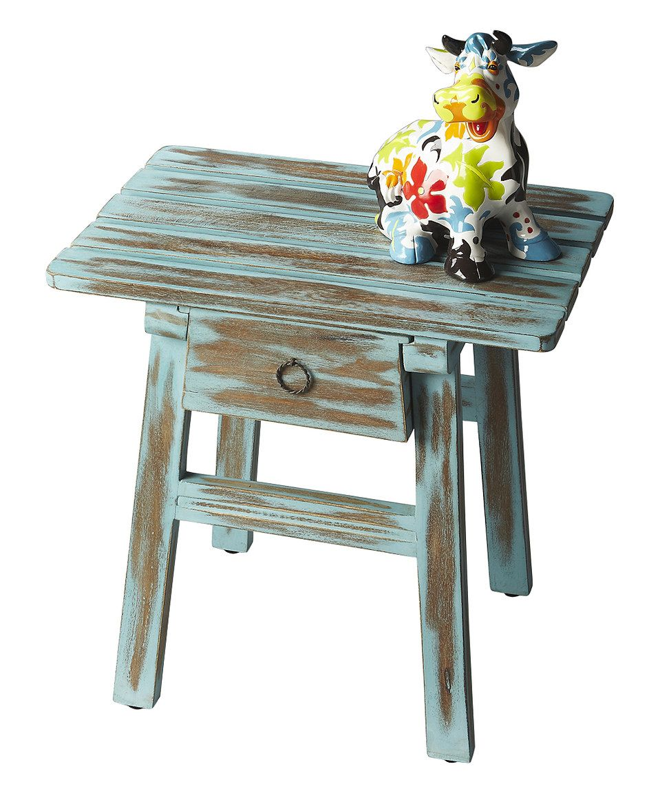 Look at this #zulilyfind! Distressed Blue Accent Table by  #zulilyfinds