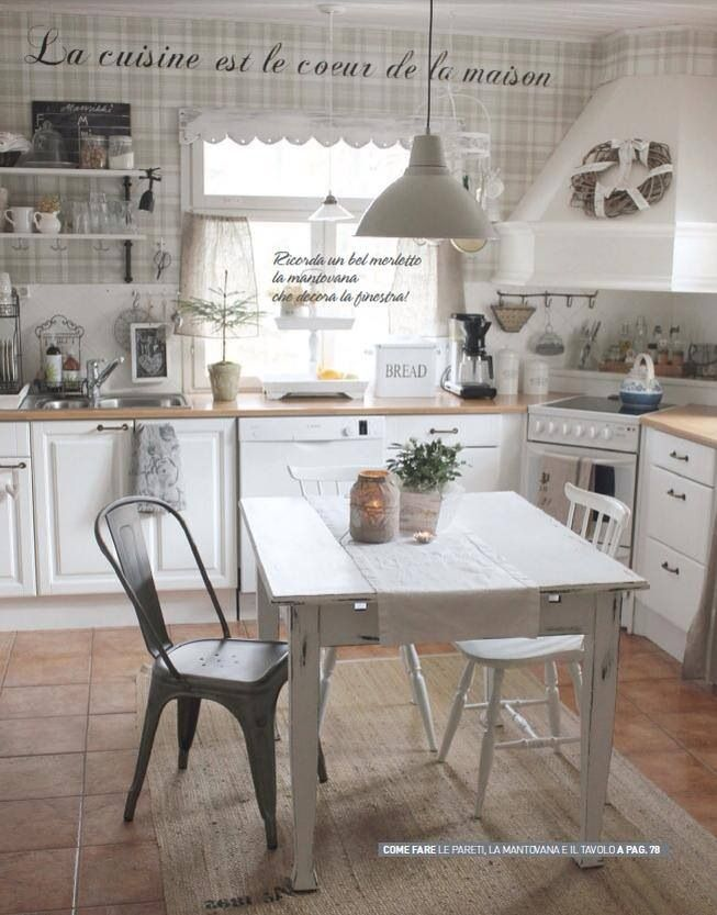 Shabby chic e arredamento provenzale decorate camere for Cucine pinterest