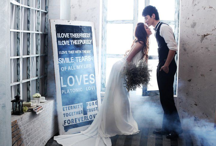 I love this set up. The saying the couple, everything but the bride's pose... she seems a little hunched over.