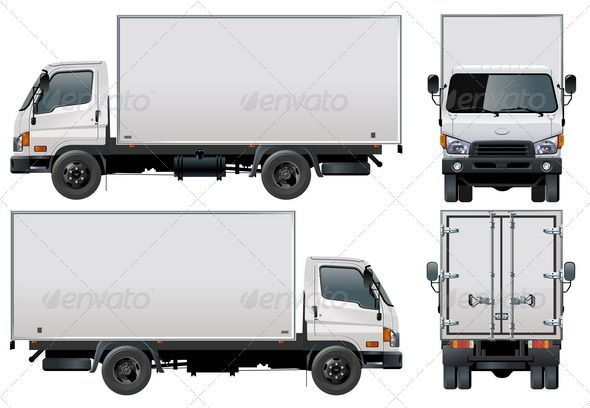 Delivery Cargo Truck With Images Trucks