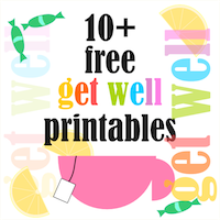 free get well printables: