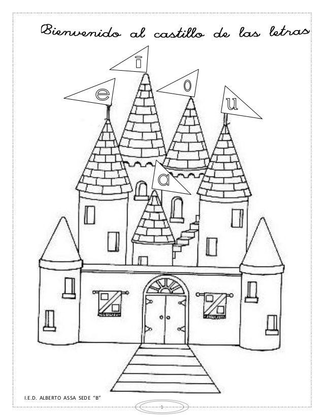 Modulo Consonantes Castle Coloring Page Abc Coloring Pages Cool Coloring Pages