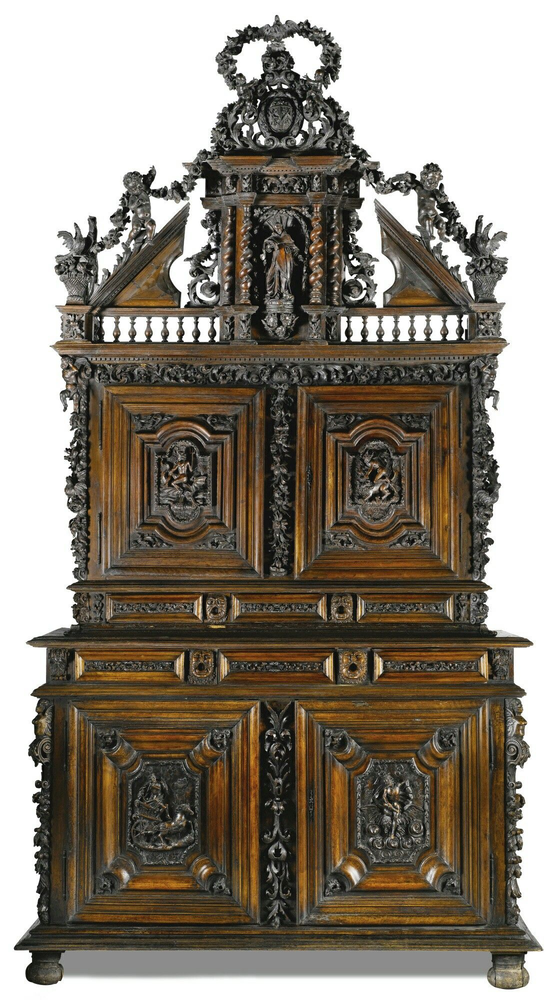 Muebles Italianos Clasicos An Italian Carved Walnut Cabinet Piedmontese Dated 1704