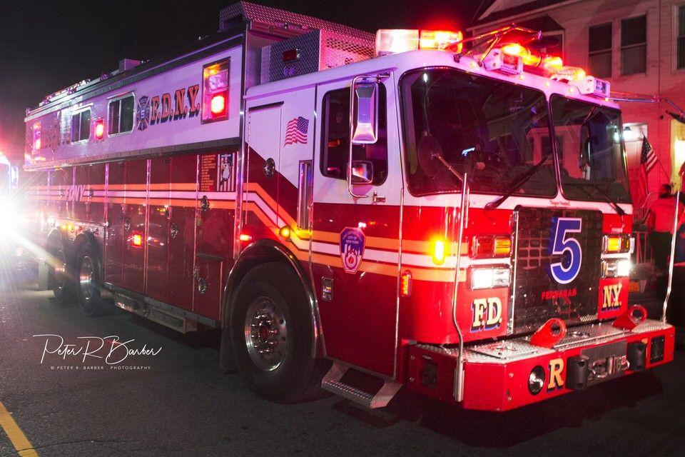 Fdny Rescue 5 Operating At 2 Alarm Fire In Bayridge Brooklyn