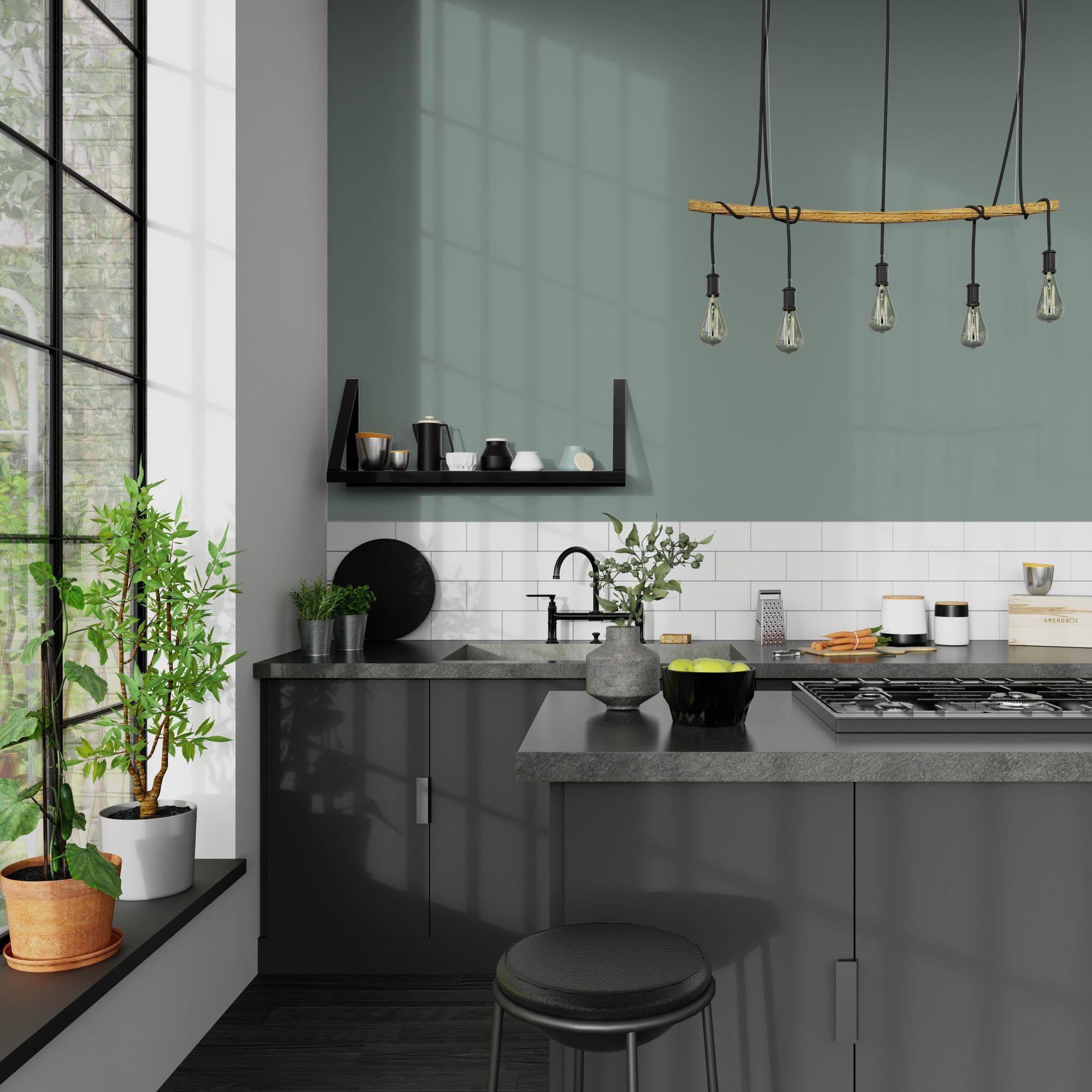 Peinture Vert De Gris Pour Cuisine: Peinture Multi-supports ABSOLU Acrylique Vert De Gris Mat