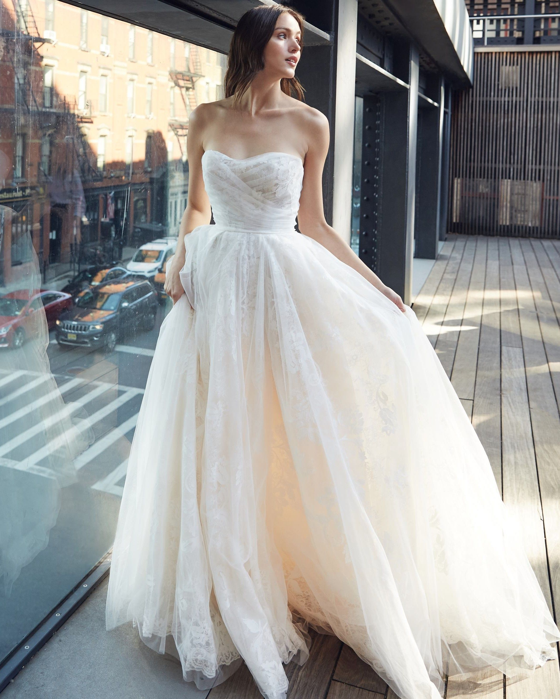 Bliss By Monique Lhuillier Spring 2020 Wedding Dress Collection White Bridal Dresses Bridal Fashion Week Best Wedding Dresses