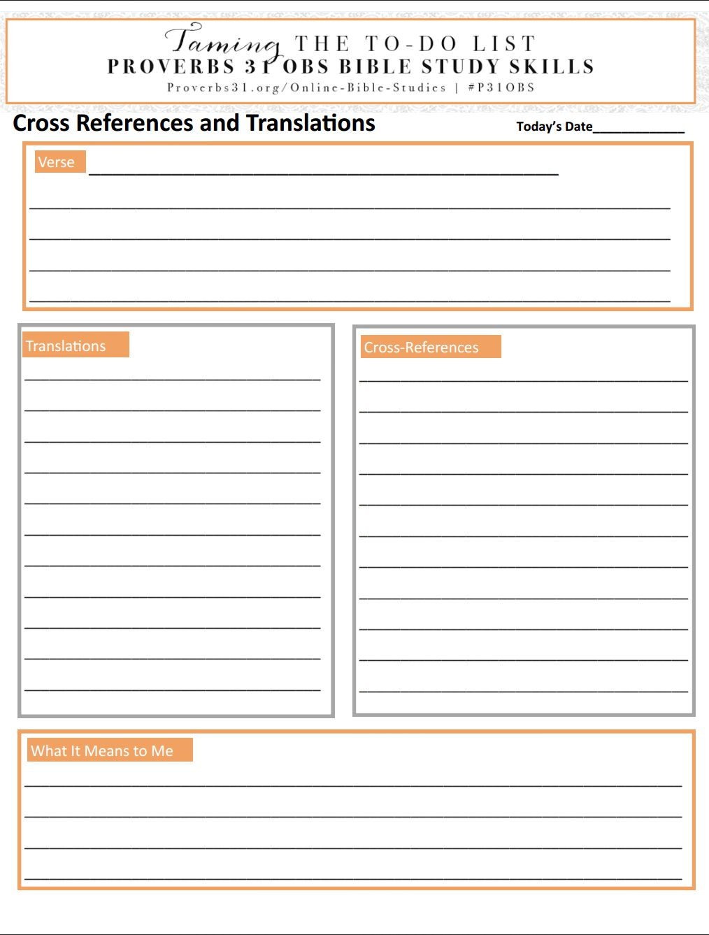 Worksheets Inductive Bible Study Worksheet bible study skills translations and cross references vida crista tameyourlist proverbs 31 online week 3 skill translations