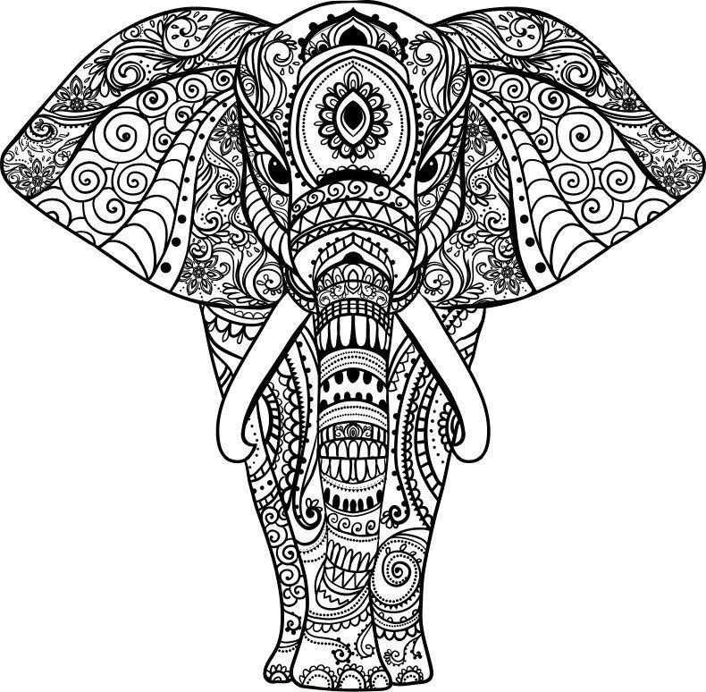 mandala bilder elefant