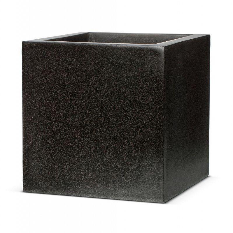 Square Fiberstone Contemporary Black Planter By Cadix Capi 640 x 480