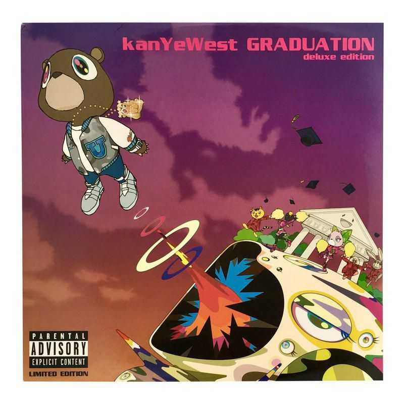 Takashi Murakami Kanye West Vinyl Record Art Kanye West Album Cover Graduation Album Rap Album Covers