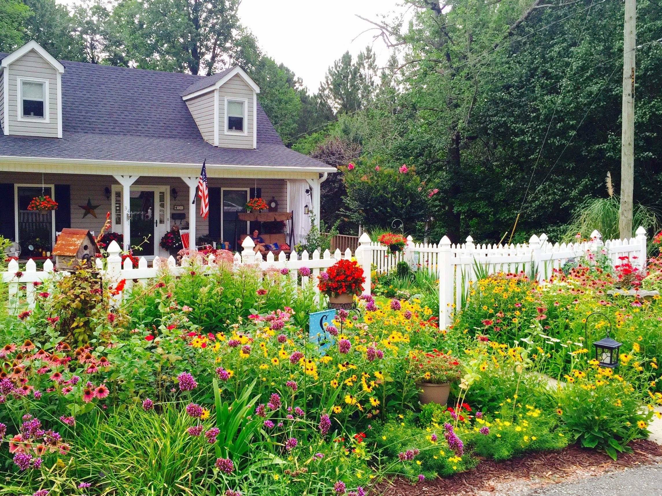 awesome alabama cottage garden autumn fence flower garden