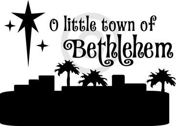 Christmas Vinyl Vinyl Craft Ideas Christmas Crafts Christmas Vinyl O Little Town Of Bethlehem Custom Vinyl Lettering