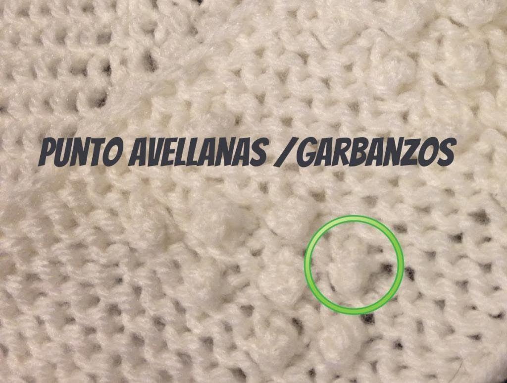 PUNTO AVELLANA / GARBANZOS, Bodoques o Nudos en Tejido Telar - Loom ...