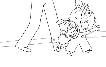 Trixie From Knuffle Bunny Coloring Page Knuffle Bunny Bunny Coloring Pages Mo Willems