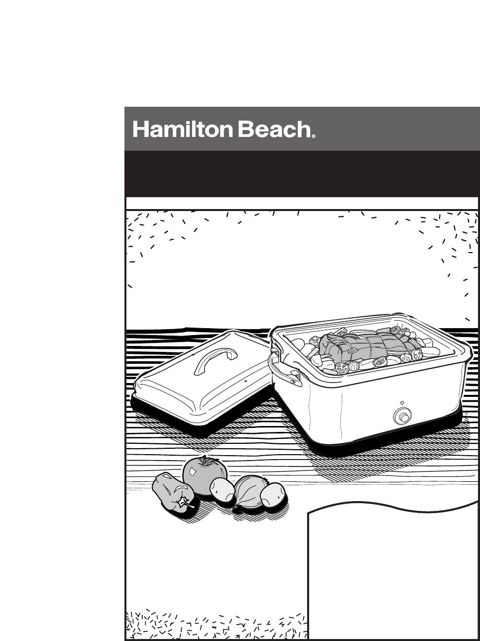Hamilton Beach Owner S Manual 18 Quart Roaster Oven Manualsonline
