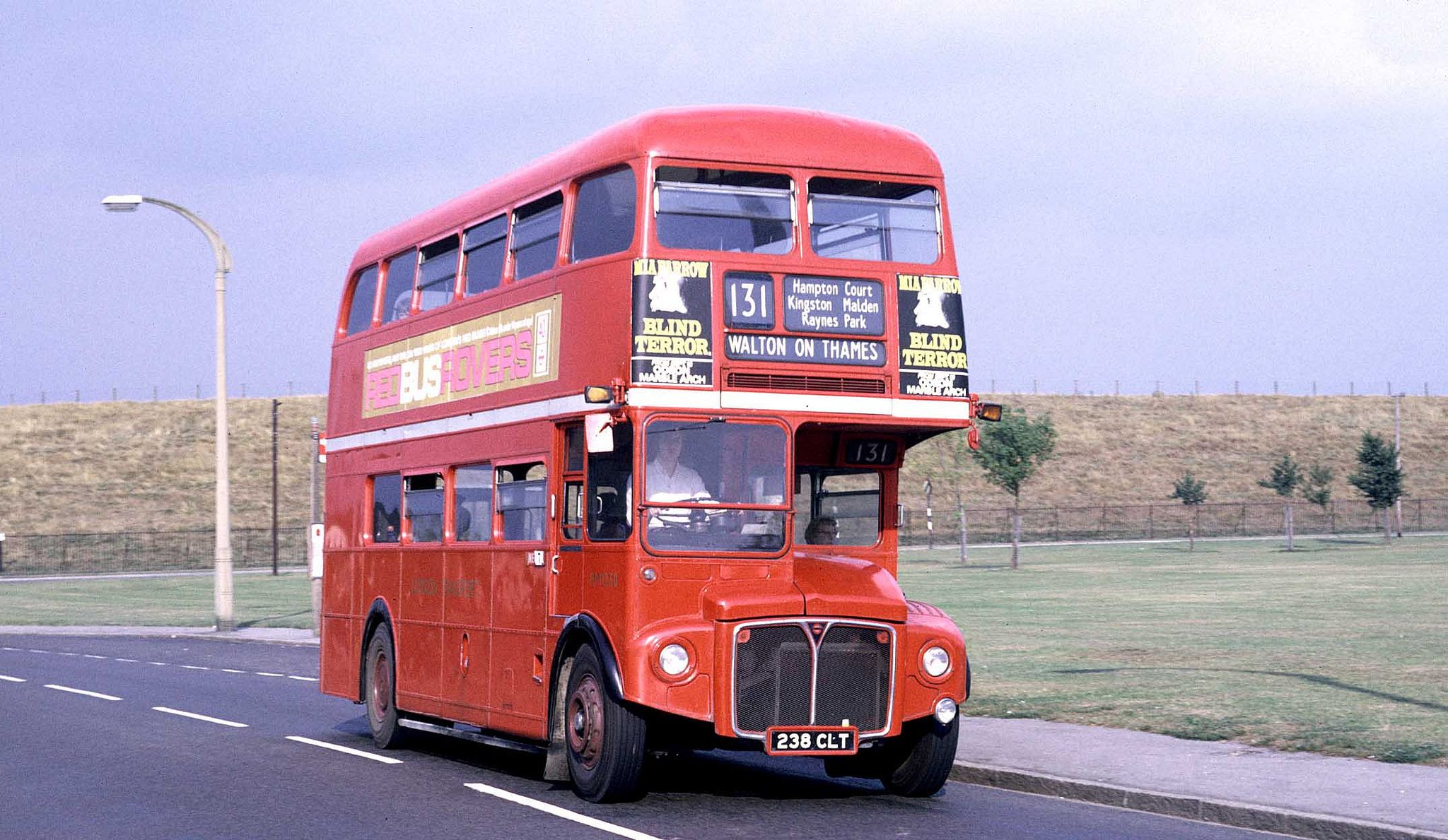 NEW MALDEN Vintage London Bus Blind