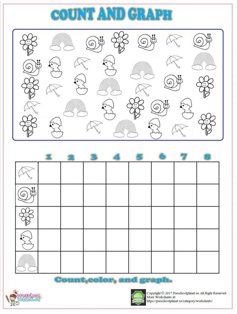 Spring Worksheets For Kindergarten Graphing Worksheets Spring Math Worksheets Free Kindergarten Worksheets [ 1024 x 773 Pixel ]