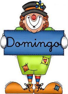 Dias De La Semana Para Imprimir Imagenes Y Dibujos Para Imprimir Cardboard Art Clown Party Word Pictures