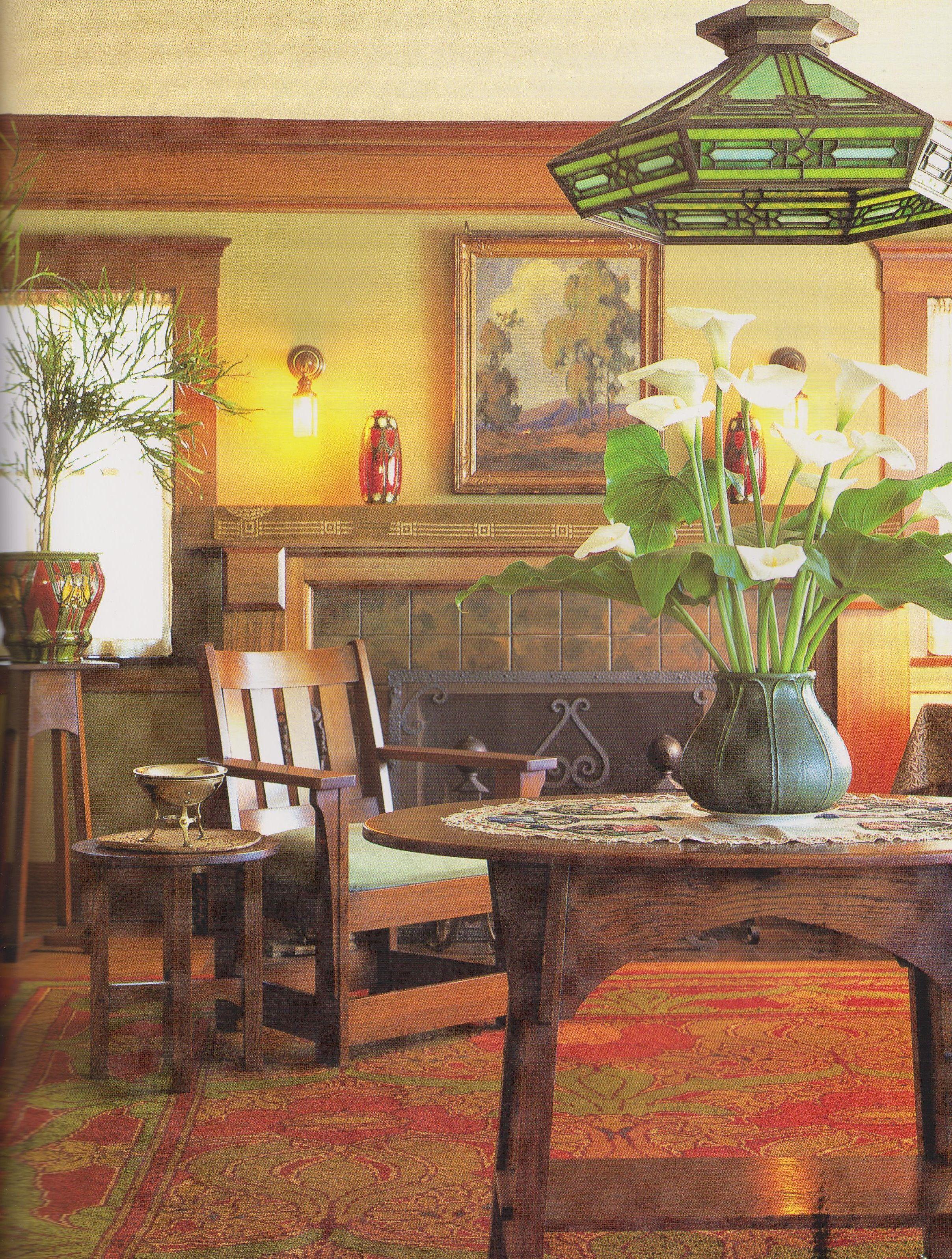 Artsy Living Room: Arts & Crafts Living Room …