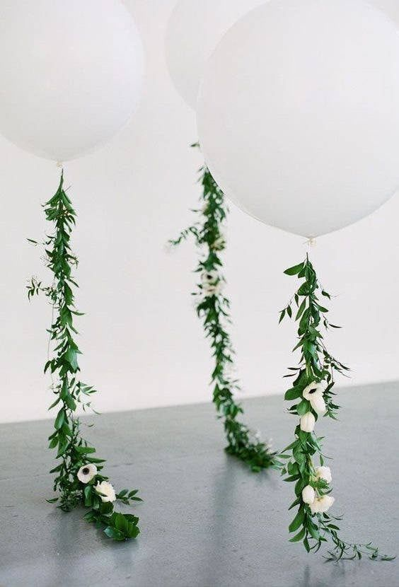 #babydusche deko Vine Balloon, Greenry flower garland 36 inch balloon tail, Wedding Floral decor, First Birthday, Baby Shower Photo Shoot Prop Green L...