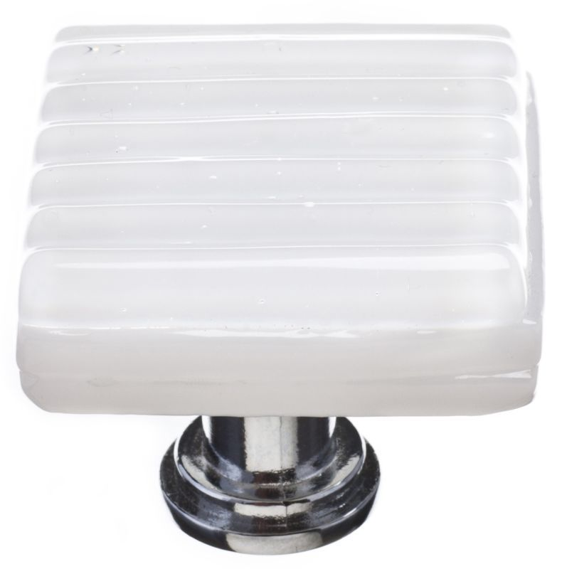 Sietto K-800 Texture 1-1/4 Inch Square Cabinet Knob Polished Chrome Cabinet Hardware Knobs Square
