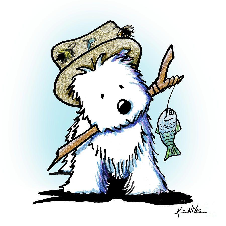kiniart westie fisherman drawing by kim niles drawing pinterest rh pinterest co uk