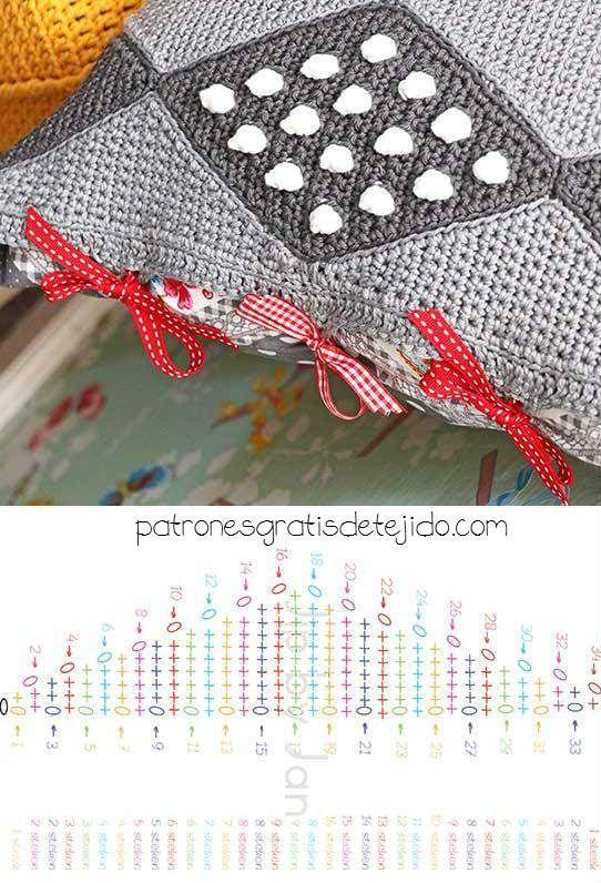 Funda para almohada tejida con ganchillo / Paso a paso | Crochet y ...