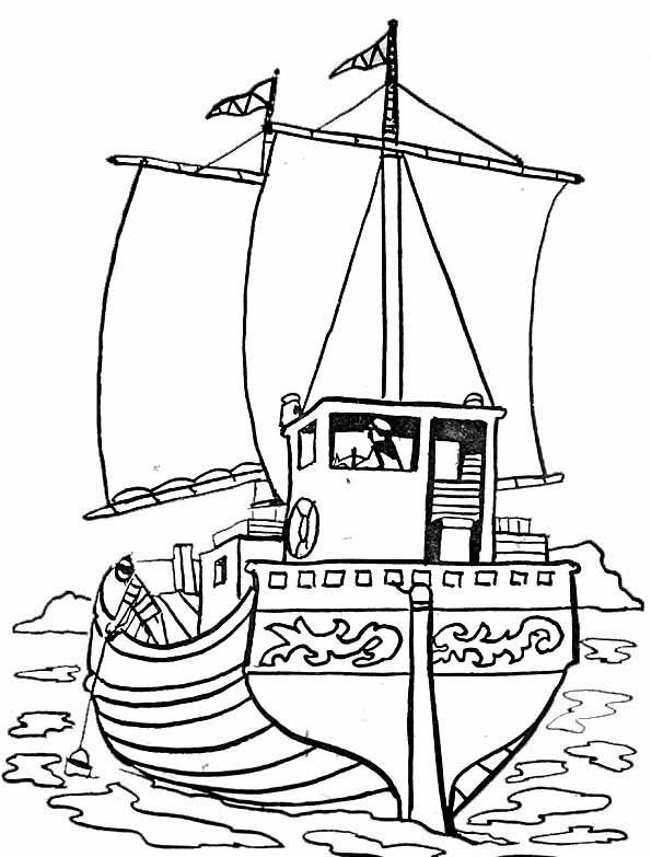 Afficher l 39 image d 39 origine bateaux pinterest - Coloriage bateau de pirate ...
