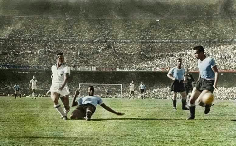 Uruguay 2 Brazil 1 in 1950 at the Maracana. Ademir has a good ...
