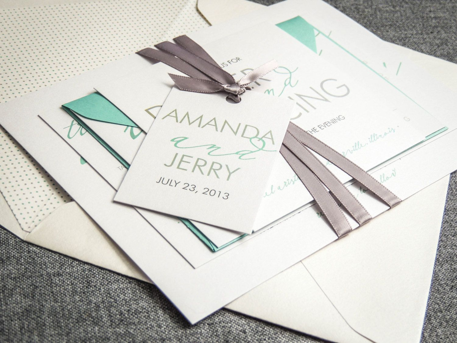 beach wedding invitation examples%0A Mint Wedding Invitations  Modern Beach Invites  Aqua  Teal  Grey    Modern  Calligraphy   Flat Panel  No Layers  v   SAMPLE
