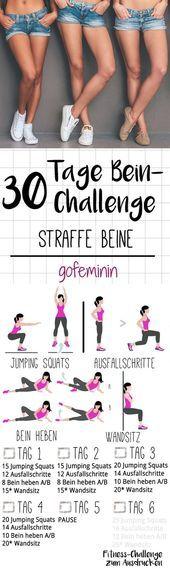Für schöne straffe Beine: Die 30 Tage Bein-Challenge! – Tattoo Ideas