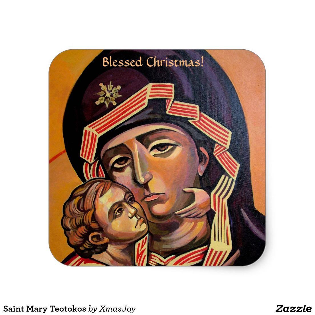 Saint Mary Teotokos Square Sticker