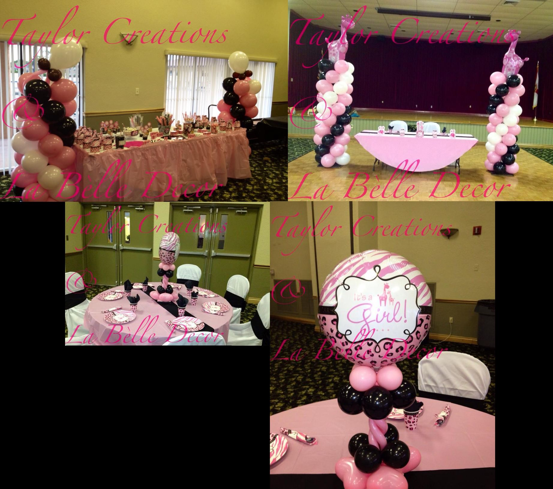 Pink Safari Baby Shower decoration idea Baby Shower