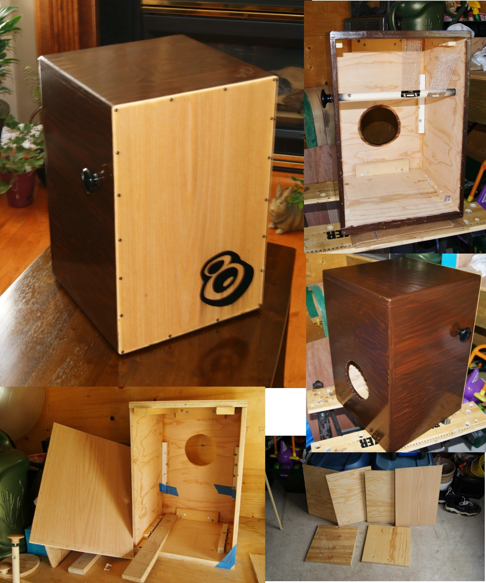 Homemade Cajon (Box Drum) ... I made this cajon just out of