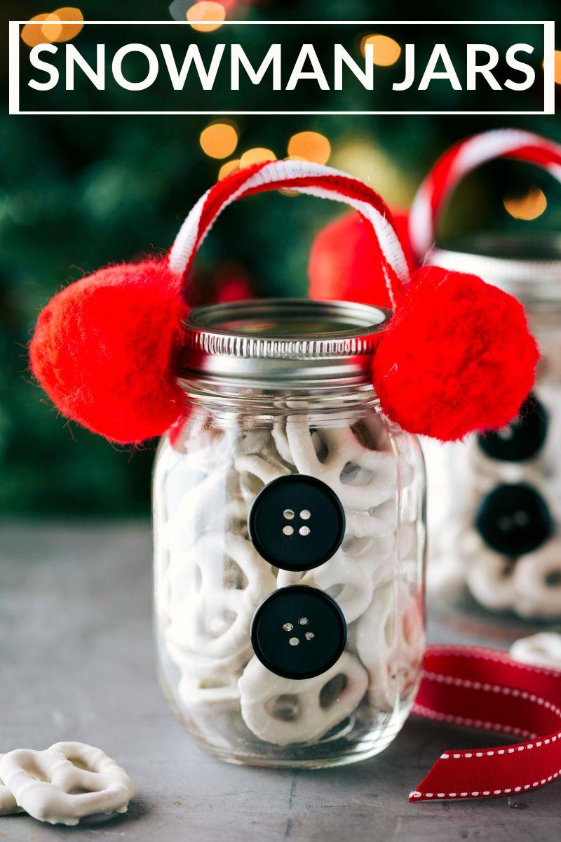 Four easy and creative mason jar CHRISTMAS treat gift ideas. A ...