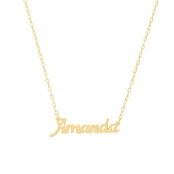 Dainty nameplate necklace gold dainty nameplate necklace aloadofball Image collections