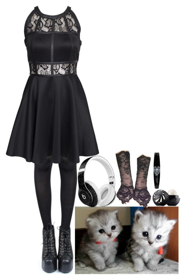 """adopting kittens"" by angelika-andrades ❤ liked on Polyvore featuring Pretty Polly, AX Paris, Eos and Beats by Dr. Dre"