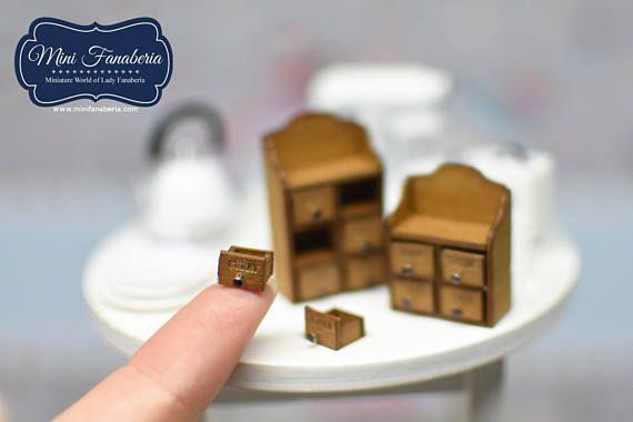 Miniatur Gewürz kleine Kommode mit ausziehbaren Schubladen