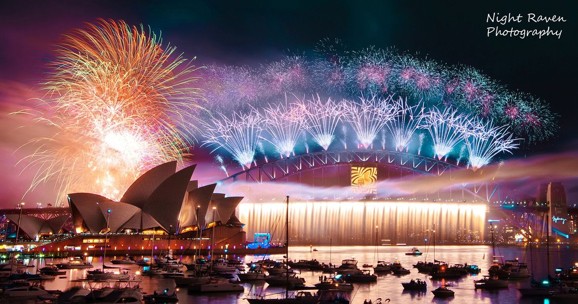 My favorite New Year Eve 2014 fireworks (at Sydney Harbor
