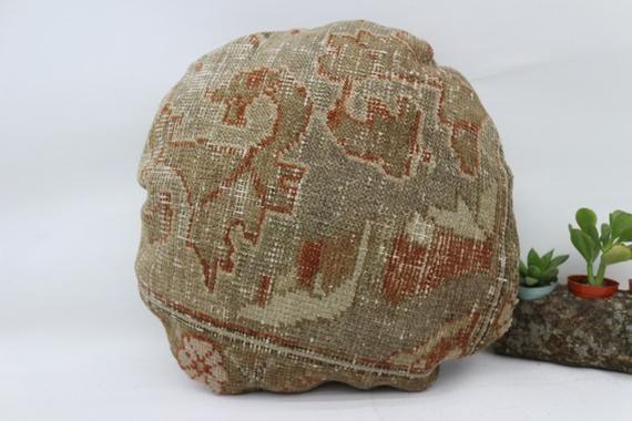 Pillow, 18x18, Round Pillow, Throw Pillow, Red Pillow, Organic Pillow, Handmade, Cushion Cover, Pill