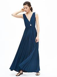 Knit V-Neck Patio Dress