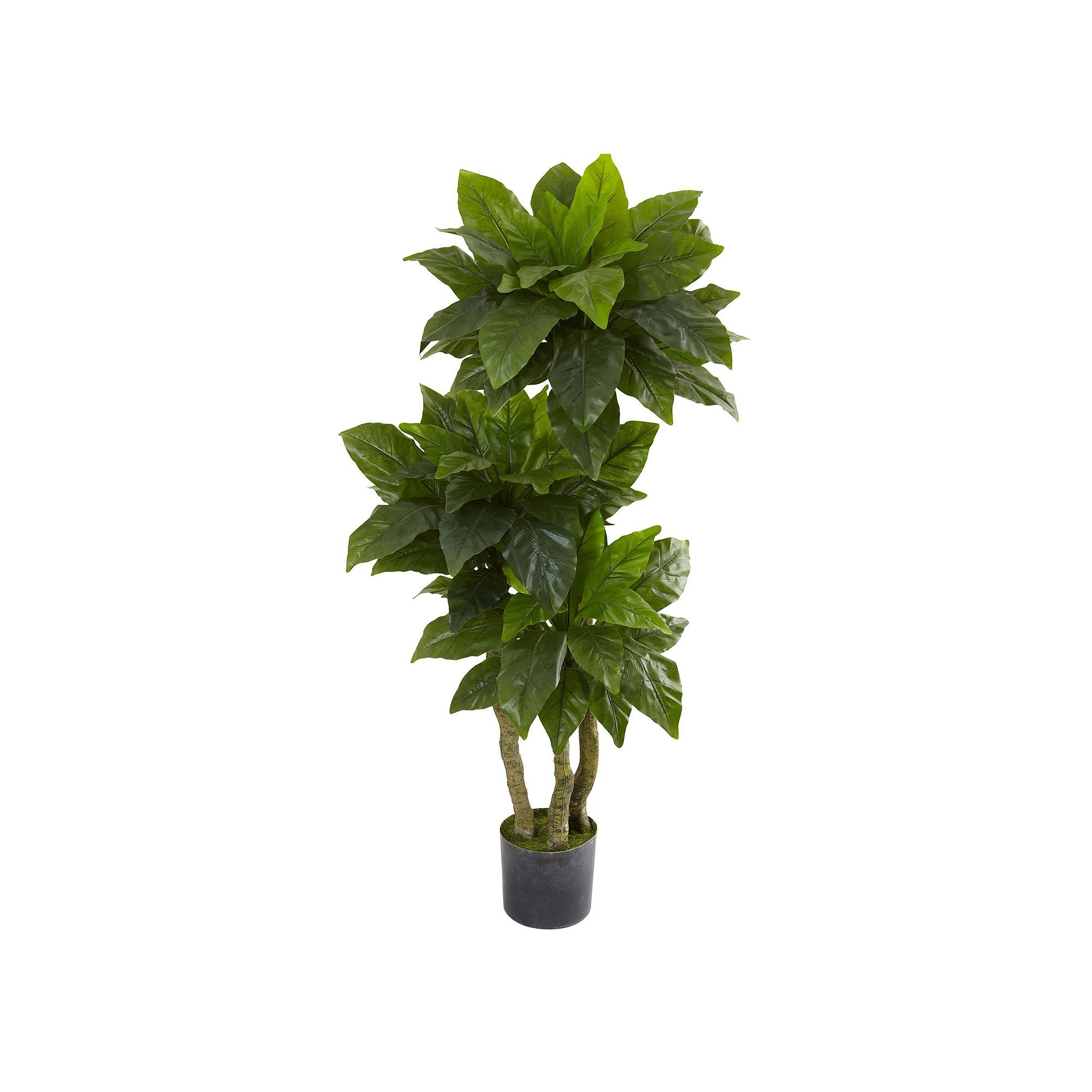 Nearly natural ft potted bird nest fern tree indoor and outdoor