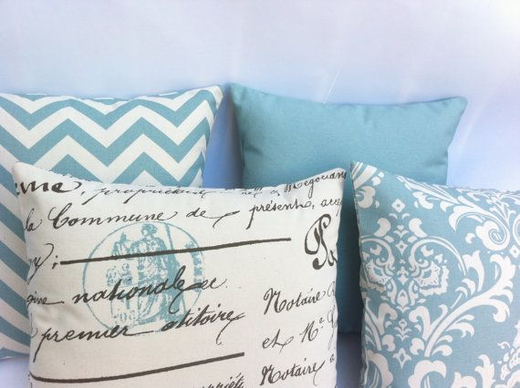 French Country Decorative Pillow Covers Couch Sofa Pillows 16x16