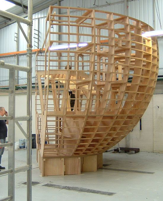 Plywood frame for 180 degree section of a sphere  Design