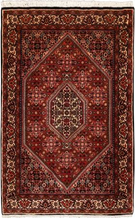 "Bidjar Terracotta Classic Medallion Carpet CS-M995062144 X 93 Cm. (4'8"" X 3'1"" Ft.) - Carpetsanta"