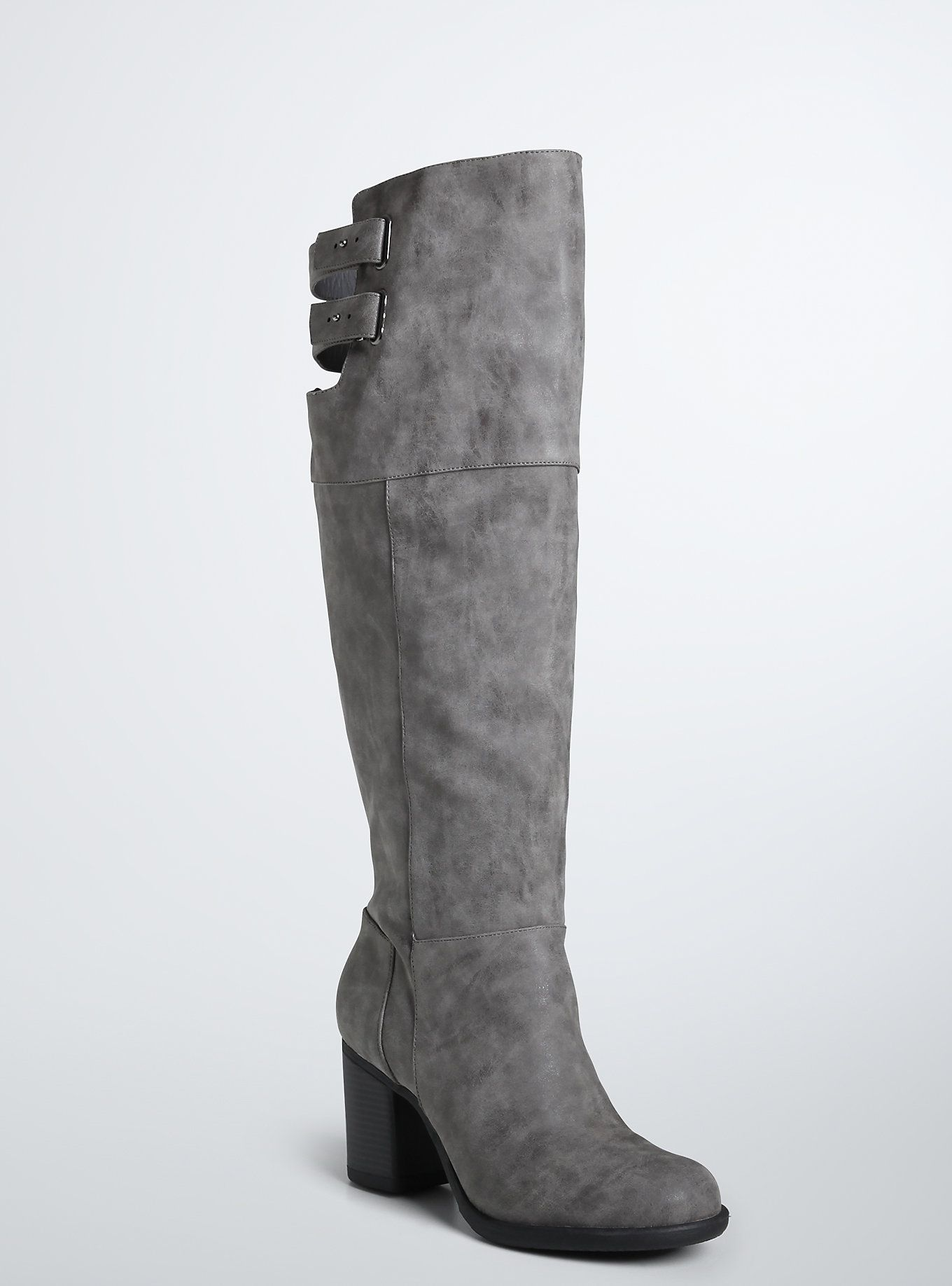 06d14e6d14e Double Strap Over the Knee Boots (Wide Width   Wide Calf)