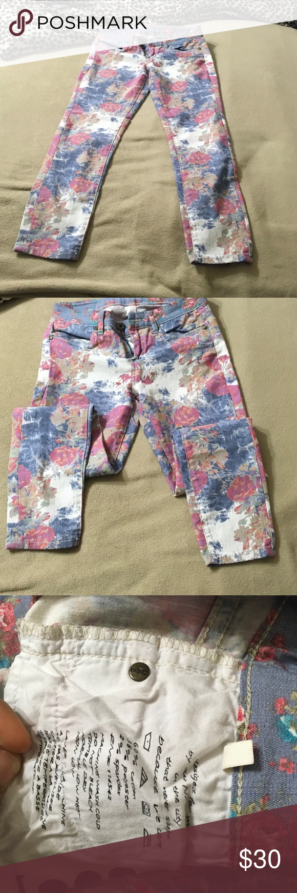 Blank NYC jean floral Size 25 Blank NYC Jeans Ankle & Cropped