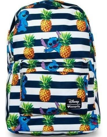 6d13e5df833b Loungefly Disney Lilo Stitch Pineapple Stripes All-Over Print Backpack