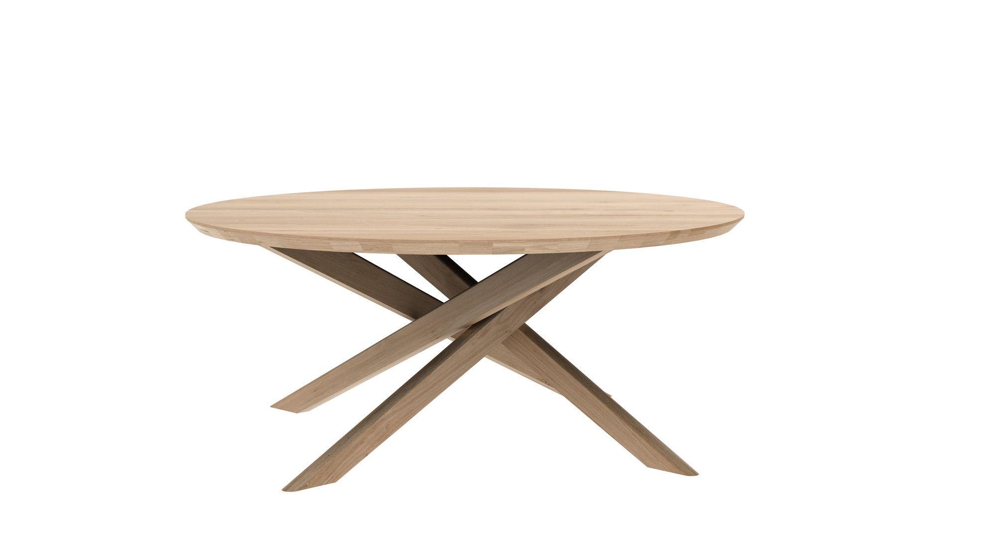 Mikado Coffee Table Oak Ethnicraft Round Coffee Table Oak
